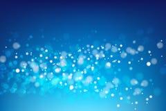 Abstracte blauwe achtergrond met lichte bokeh vectorillustratie 00 royalty-vrije illustratie