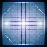 Abstracte blauwe achtergrond met lijnen en rechthoekige vormen Royalty-vrije Stock Foto's