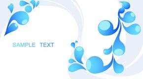 Abstracte blauwe achtergrond met plaats voor uw tekst Stock Foto