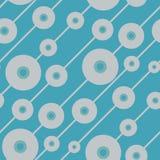Abstracte blauwe achtergrond met ronde elementen Stock Afbeelding