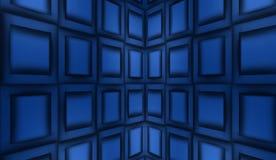Abstracte blauwe achtergrond, metaalpanelen vector illustratie