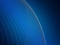 Abstracte Blauwe Achtergrond Net, lijnen en gradiënten Vector Illustratie