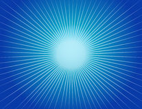 Abstracte Blauwe Achtergrond Starburst Royalty-vrije Stock Foto's