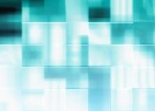 Abstracte blauwe achtergrond van vierkanten Royalty-vrije Stock Afbeeldingen