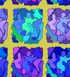 Abstracte blauwe achtergrond voor zaken kleurkaart en grafisch ontwerp in illustratie behang royalty-vrije illustratie