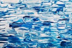 Abstracte blauwe acryl heldere achtergrond Stock Afbeelding