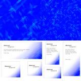Abstracte blauwe banner als achtergrond Royalty-vrije Stock Foto