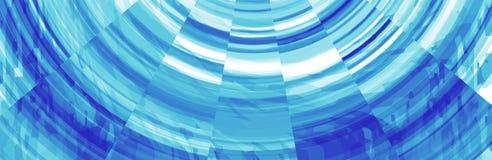 Abstracte Blauwe Bannerkopbal Stock Illustratie