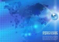 Abstracte blauwe bedrijfsachtergrond Stock Afbeeldingen