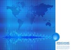 Abstracte blauwe bedrijfsachtergrond Royalty-vrije Stock Afbeelding