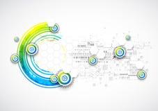 Abstracte blauwe bedrijfswetenschap of technologieachtergrond royalty-vrije illustratie