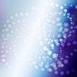 Abstracte blauwe bellenachtergrond Stock Afbeelding
