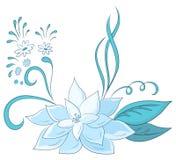 Abstracte blauwe bloem Stock Fotografie