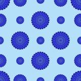Abstracte blauwe bloemen op een blauwe achtergrond Royalty-vrije Stock Afbeelding
