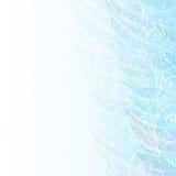 Abstracte blauwe bloemenachtergrond Stock Afbeeldingen