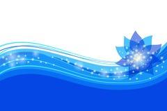 Abstracte blauwe bloemenachtergrond stock illustratie
