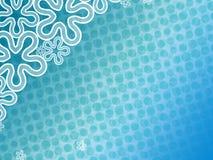 Abstracte blauwe bloemenbackdround Stock Afbeelding