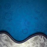 Abstracte Blauwe Bloemencuve-Achtergrond Stock Foto's