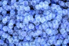 Abstracte blauwe bokeh defocused achtergrond Royalty-vrije Stock Fotografie