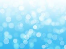 Abstracte blauwe bokehachtergrond Royalty-vrije Stock Afbeelding