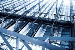 Abstracte blauwe bouw stock foto's