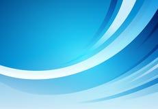 Abstracte blauwe buigende lijnachtergrond Royalty-vrije Stock Foto