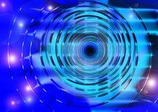 Abstracte blauwe cirkelachtergrond Royalty-vrije Stock Foto