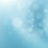 Abstracte blauwe cirkelbokeh Eps 10 Stock Afbeelding