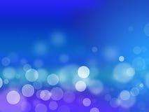 Abstracte blauwe cirkelbokehachtergrond Royalty-vrije Stock Afbeelding