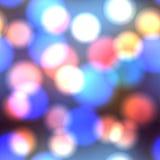Abstracte blauwe cirkelbokehachtergrond Royalty-vrije Stock Foto's