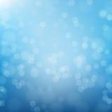 Abstracte blauwe cirkelbokehachtergrond Stock Afbeelding