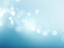 Abstracte blauwe cirkelbokehachtergrond Vector illustratie Royalty-vrije Stock Fotografie