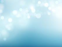 Abstracte blauwe cirkelbokehachtergrond Vector illustratie Stock Foto