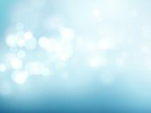 Abstracte blauwe cirkelbokehachtergrond Vector illustratie Royalty-vrije Stock Afbeeldingen