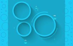Abstracte blauwe cirkels Stock Afbeelding