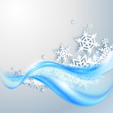 Abstracte blauwe de winterachtergrond Royalty-vrije Stock Fotografie