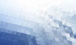 Abstracte blauwe die achtergrond in de stijl van veelhoeken wordt gemaakt vector illustratie