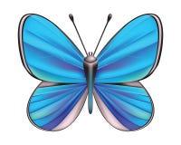Vlinder geïsoleerde vector Stock Foto's