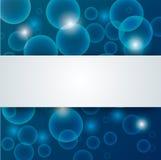 Abstracte blauwe diep - waterachtergrond Stock Foto