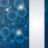 Abstracte blauwe diep - waterachtergrond Stock Afbeeldingen