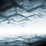 Abstracte blauwe digitale achtergrond, high-tech Royalty-vrije Stock Afbeelding