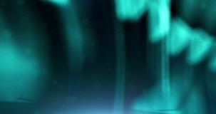 Abstracte blauwe digitale glanzende van het unfocusonduidelijke beeld van de textuurgolf materiële naadloze de bewegingsachtergr stock footage