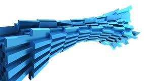 Abstracte blauwe dynamische baksteen Royalty-vrije Stock Foto's