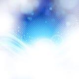 Abstracte blauwe en lichte achtergrond. Stock Afbeeldingen