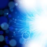 Abstracte blauwe en lichte achtergrond. Royalty-vrije Stock Afbeelding
