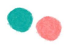 Abstracte blauwe en roze vlek Tekeningsborstel vector illustratie
