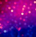 Abstracte blauwe en violette cirkelbokehachtergrond Royalty-vrije Stock Afbeelding