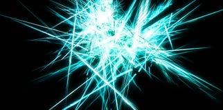 Abstracte blauwe energie scherpe lijnen Stock Foto's
