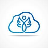Abstracte blauwe fee met wolkenvoorraad Stock Foto