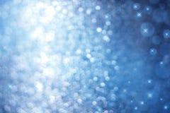 Abstracte Blauwe Fonkelingsachtergrond Royalty-vrije Stock Foto